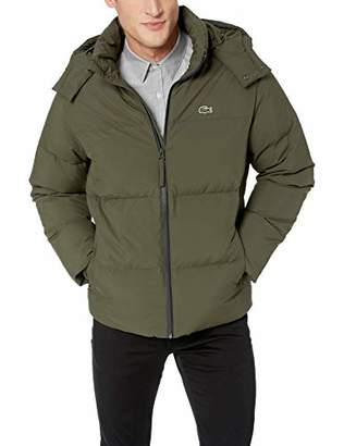 Lacoste Men's Classics Poly Puffer Jacket with Funnel Neck