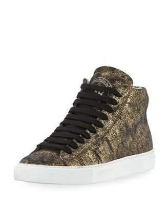 P448 Star Metallic Leather High-Top Sneaker