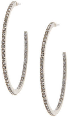 Judith Jack Sterling Silver Shine On Pave Hoop Earrings $85 thestylecure.com