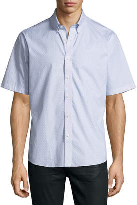 Neiman Marcus Regular-Finish Eyeglasses-Print Short Sleeve Sport Shirt