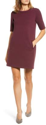 Halogen Textured Elbow Sleeve Tunic Dress