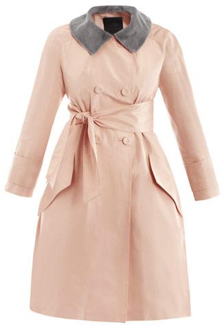 Fendi Taffeta and mink collar coat