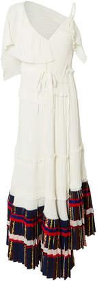 3.1 Phillip Lim Pleated Asymmetrical Midi Dress