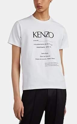 Kenzo Men's Logo-Invite Cotton-Blend T-Shirt - White