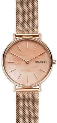 Skagen Signatur Pink Mother-of-Pearl Watch, 36mm