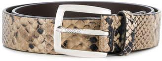 Just Cavalli snake skin effect belt