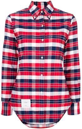Thom Browne x Colette plaid shirt