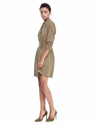 Long Sleeve Trench Dress $128 thestylecure.com