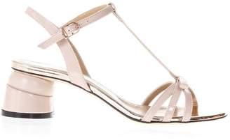 Phard Marc Ellis Patent Leather Sandals With Shaped Heel