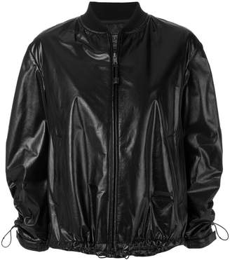 Prada drawstring bomber jacket