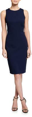Karen Millen Textured Sleeveless Asymmetric Seamed Sheath Dress