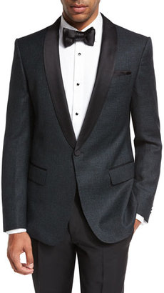 BOSS Deco Satin-Collar Tuxedo Jacket $695 thestylecure.com