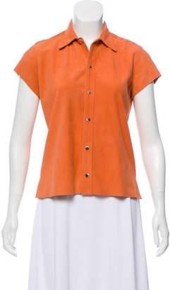 Ralph Lauren Suede Short Sleeve Top