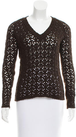 Dolce & Gabbana Dolce & Gabbana Open Knit V-Neck Sweater