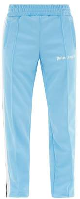 Palm Angels Side Stripe Jersey Track Pants - Mens - Light Blue