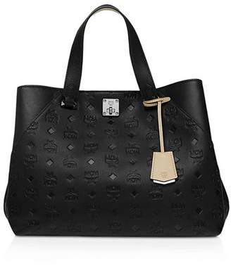 MCM Essential Monogrammed Leather Tote