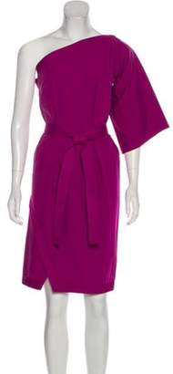 Bottega Veneta One-Shoulder Knee-Length Dress Magenta One-Shoulder Knee-Length Dress