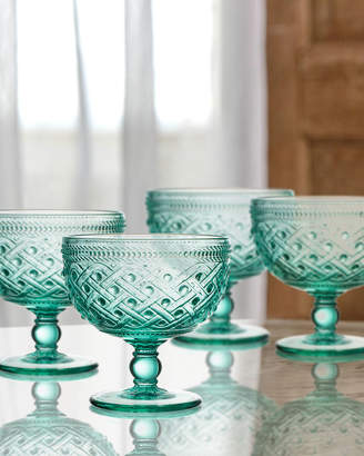 Jay Import Co Bistro Ikat Green Pedestal Bowls, Set of 4