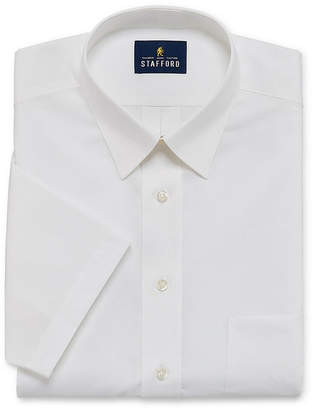 STAFFORD Stafford Travel Stretch Performance Super Shirt Short Sleeve Broadcloth Dress Shirt