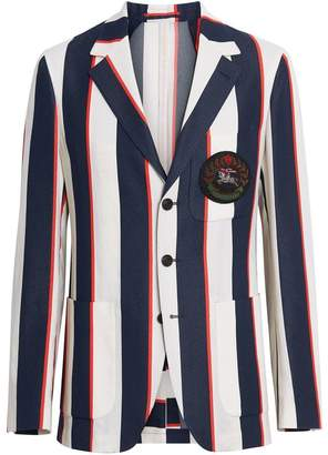 Burberry Striped Cotton Blend Club Blazer