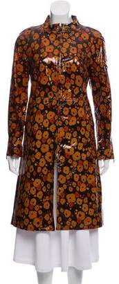 Marc Jacobs Leather Knee-Length Coat