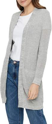 Noisy May Long Sleeve Knit Open Front Cardigan