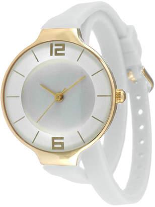 JCPenney TKO ORLOGI Womens White Silicone Strap Wrap Watch