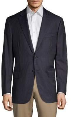 Isaia Pinstripe Wool Sportcoat