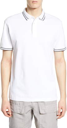 French Connection French Collection Slim Fit Tipped Pique Polo