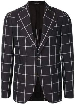 Tagliatore checked button jacket