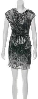 Helmut Lang Patterned Mini Dress Black Patterned Mini Dress