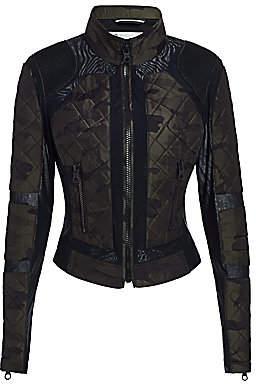 Blanc Noir Women's Camo Mesh Moto Jacket