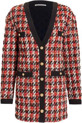 Alessandra Rich Oversized Boucle Cardigan Jacket