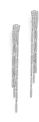 Bloomingdale's Diamond Statement Long Drop Earrings in 14K White Gold, 3.0 ct. t.w. - 100% Exclusive