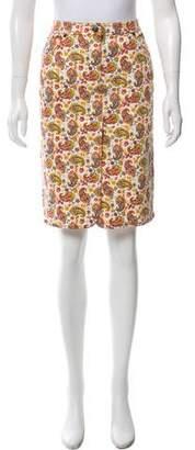 Etro Printed Knee-Length Skirt w/ Tags