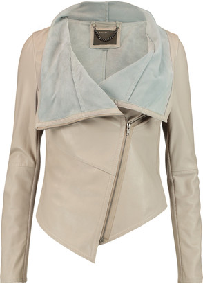 Muubaa Sabina draped leather jacket $575 thestylecure.com