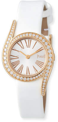 Piaget Limelight Gala 18k Rose Gold Watch, White