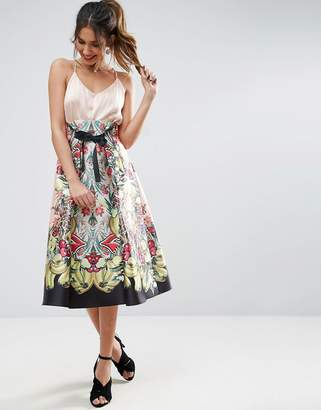 ASOS High Waisted Midi Prom Skirt in Fruit Print $95 thestylecure.com