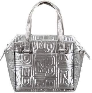 Fendi Vintage Metallic Quilted Two Way Bag