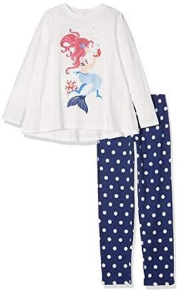 Benetton Girl's Pyjama Set (Sweater+Trousers) Onesie,(Manufacturer Size: Large)