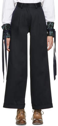 Ovelia Transtoto Black and Navy Cooper Chino Trousers