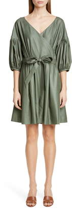 ADEAM Wrap Front Belted Romper