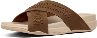 FitFlop Surfer Men's Woven Leather Slides
