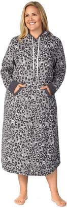 Cuddl Duds Plus Size Hooded Fleece Sleepshirt