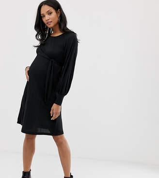 Mama Licious Mama.licious Mamalicious long sleeve midi dress