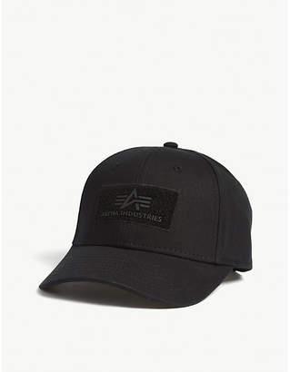 Alpha Industries Riptape logo cotton strapback cap