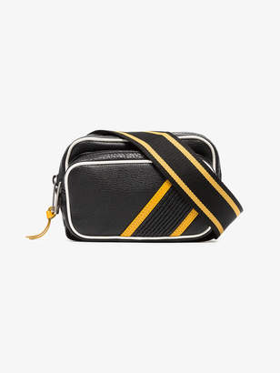 Givenchy black, yellow and white reverse leather bumbag