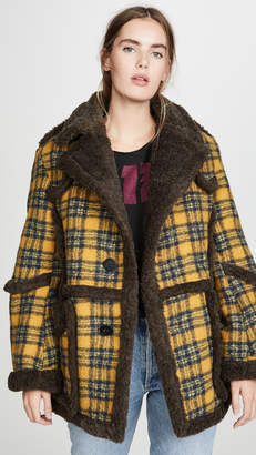 R 13 Imitation Sheepskin Coat