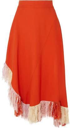 Esteban Cortazar Fringed Jersey Skirt