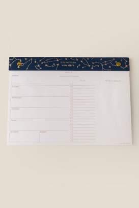 Designworks Ink Constellations Weekly Desk Planner - Multi